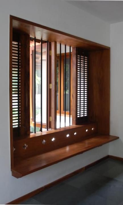 wood window nook