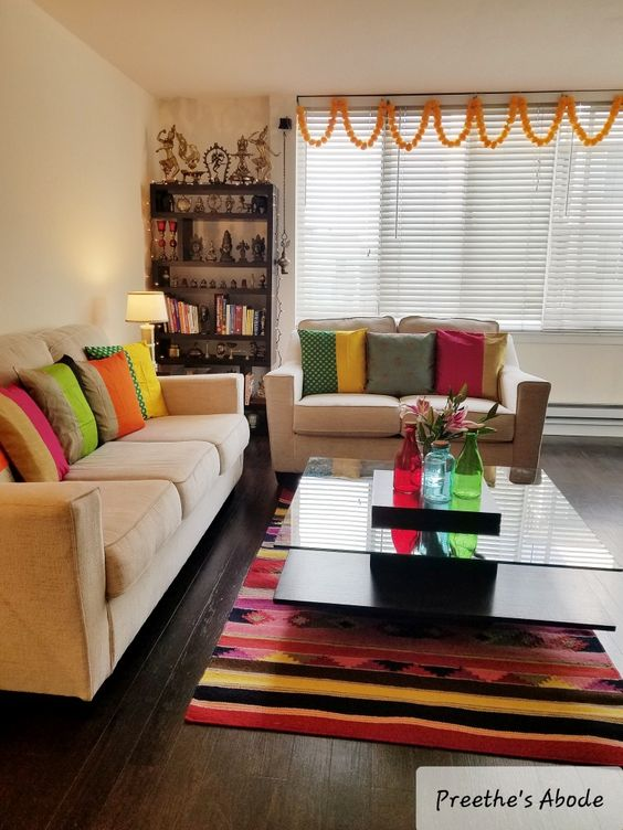 bright colors for furnishings